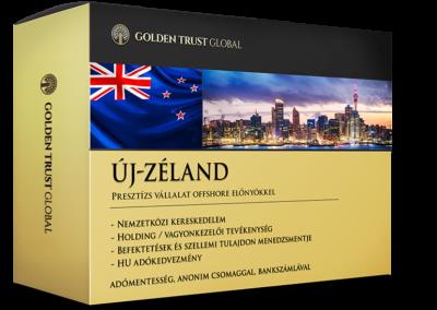 Új-Zéland, adórezidens presztízs cég offshore előnyökkel